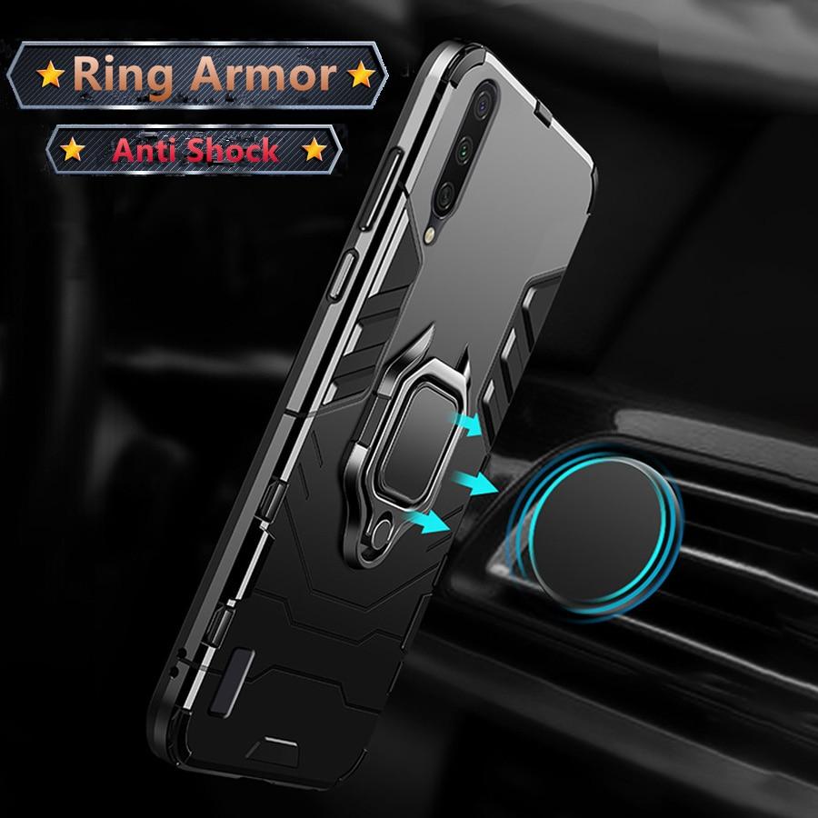 Armor Metal Finger Ring Stand Holder Cover For Xiaomi Redmi Note 8T 6 7 8 Pro 7A 8A K30 K20 Pro Mi 8 9 Lite SE A2 A3 Lite Case