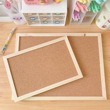 Bulletin Board Frame Note Photo-Background Cork-Wood Wall-Hanging Message Office-Shop