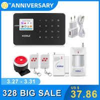KERUI G18 czarny panel bezprzewodowy domowy system alarmowy gsm alarm antywłamaniowy zestaw czujników android ios telefon pilot aplikacji sterowania