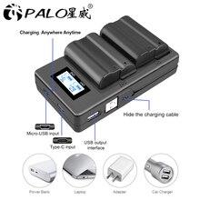Зарядное устройство для аккумуляторов PALO EN EL15 ENEL15 EL15, ЖК дисплей, USB, двойное зарядное устройство для Nikon D500,D600,D610,D750,D7000,D7100,D7200,D800,D800E,D810