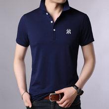 Летние модные мужские рубашки поло для мужчин с коротким рукавом