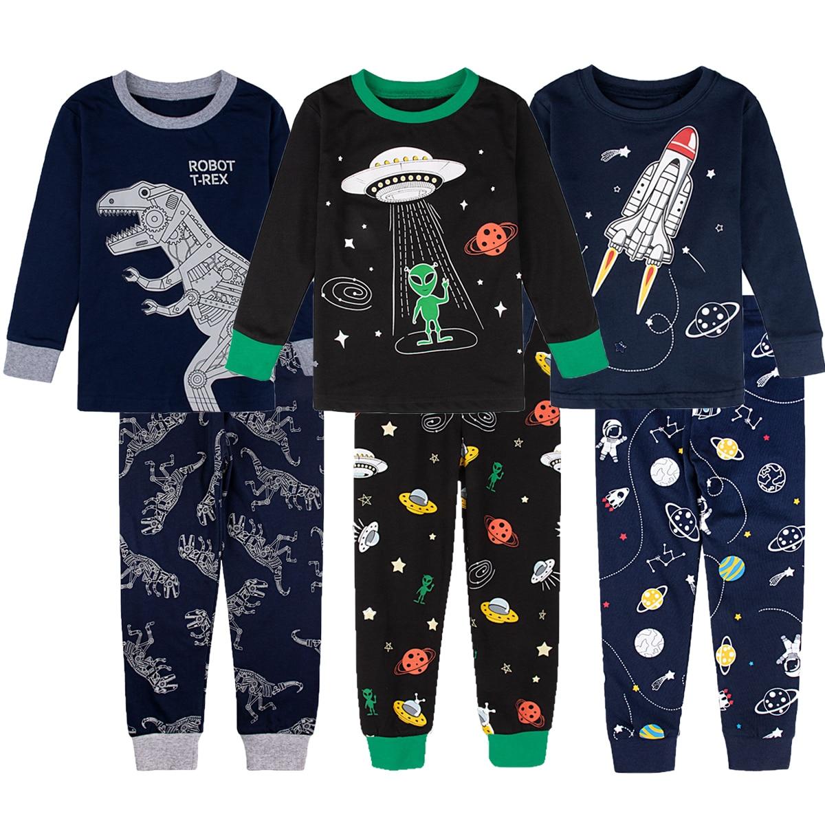 Kids Boy Captain Hulk Spiderman Superhero Pajamas Set Children Avenger Ironman Sleepwear Toddler Christmas Cosplay Costume 2-10Y