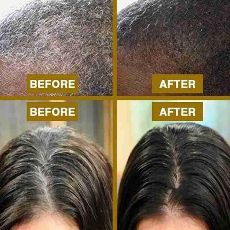 100ml Hair Shampoo Natural Organic Hair Darkening Growth Cleaning & Nourishing Anti-Grey Thick Repair Treatment Hair Shiny Hair