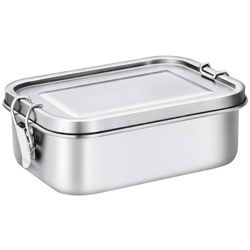 Stainless Steel Lunch Food Container with Lock Clips and Leakproof Design  800ML Bento Boxes Lunch Container for Kids or Adults |Lunch Boxes| |  - title=