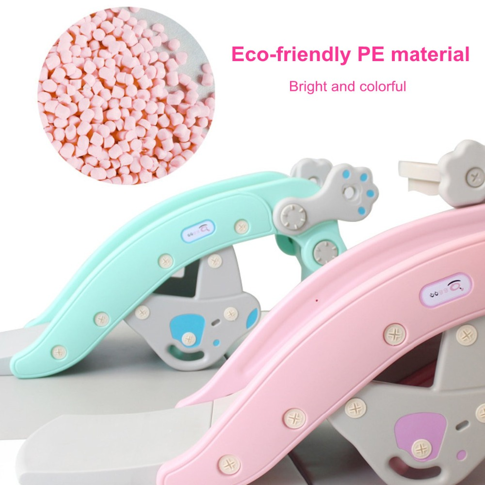 H87c69b58e47d43cd828ac386ac1ca8a6i IMBABY 3 in 1 Baby Rocking Horse Slide Basketball Box Children's Kids Toys Indoor Outdoor Kindergarten Safety Game Exercise Toys
