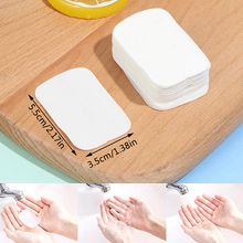 20pcs / 50pcs Washing Hand Bath Clean Scented Slice Sheets Disposable Boxe Soap Portable Mini Travel Soap Paper