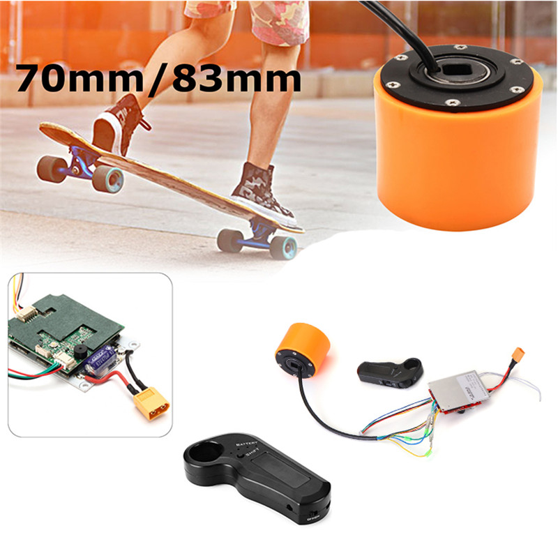 70mm 83mm  Electric Skateboard Brushless Wheel Hub Motor And Controller For DIY Electric Skateboard Hub Motor Accessory