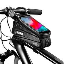 Жесткий Чехол для дикого человека, сумка для велосипеда, сумка для переднего луча, сумка для горного велосипеда, мобильный телефон с сенсорным экраном, верхняя труба, сумка для седла, оборудование для верховой езды