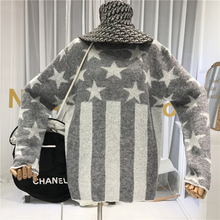 Stars Print Women Sweater and Pullovers 2019 Autumn Winter Womens with A Pattern Top Korean Fashion