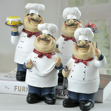 Retro Chef Model Home Decoration Chef Statue Welcome Figurine Model Home Decoration Accessories Kitchen Ornament Resin Craft retro archaize silver horse head statue animal bust luxury model resin craftwork home furnishing articles l2427