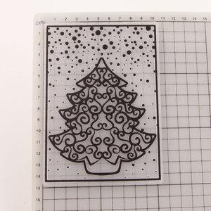 Christmas Tree Snowflake Embossing Plates Design DIY Paper Cutting Dies Scrapbooking Plastic Embossing Folder