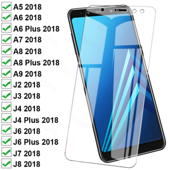 999D Protective Glass For Samsung Galaxy A8 A6 Plus A5 A7 A9 2018 Tempered Glass J4 J6 Plus J3 J7 J8 2018 Screen Protector Film 1