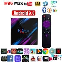 Volle HD H96 MAX TV Box S905X3 Quad Core Smart Netzwerk Player 2.4/5G Wifi Bluetooth 32GB 64GB Leadcool QHDTV Android Set-Top-Box