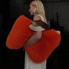 Imitation Fur Stitching PU Leather Handbag Shoulder Bag Plush Bag Fur Big Bag Tote Bag Autumn And Winter Models