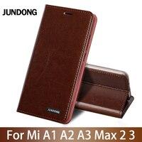 Flip Phone Case For Xiaomi Mi A1 A2 Lite A3 lite For Max 2 3 Mix 2s 3 Poco F1 Y3 Case Oil wax skin Card slots Cover