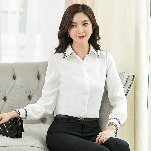 Women Blouses Woman Shirts Tops Long Sleeve Shirt Chiffon Blouse Women Plus Size 5XL FreeShipping Fashion Woman Blouses 2020 4