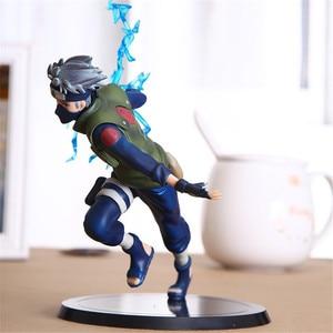 Image 2 - FMRXK 22cm Naruto Kakashi Sasuke PVC Action Figure Anime Puppets Toys Model Desk Collection For Kits Children