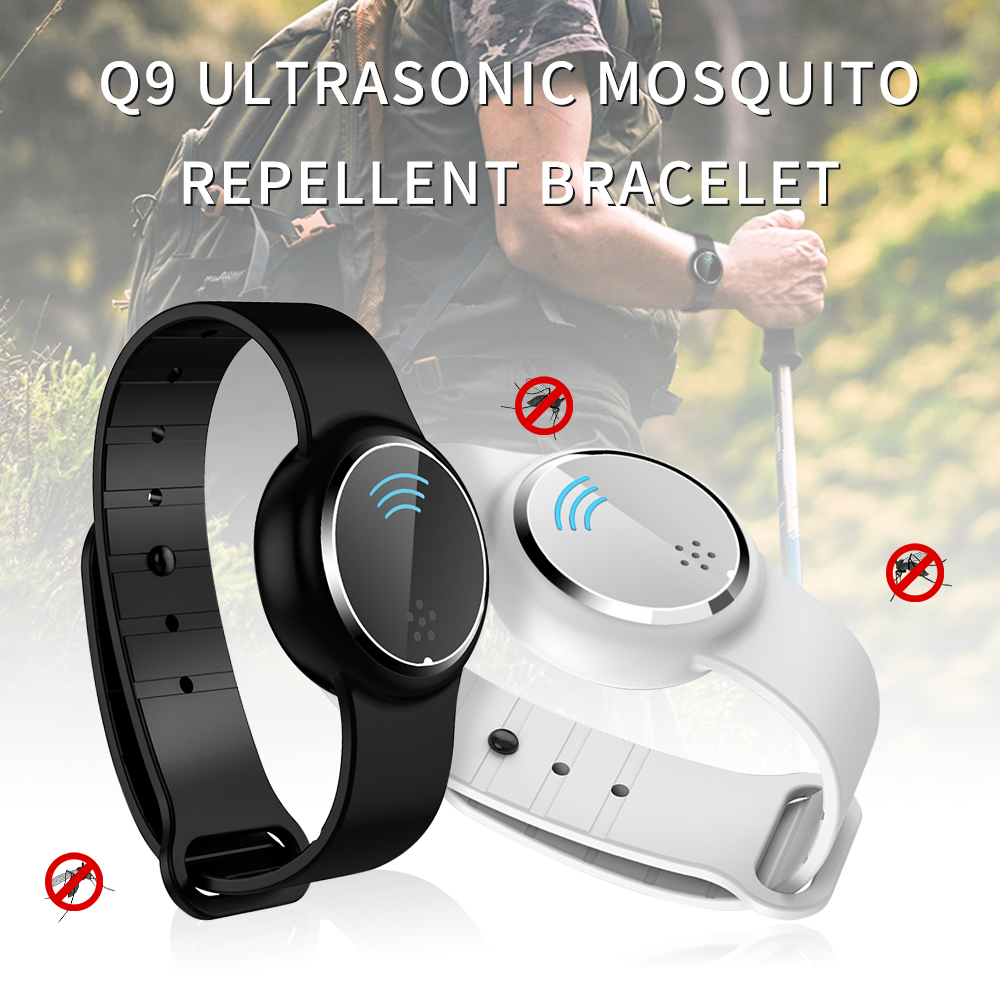 Intelligent Ultrasonic Mosquito Repellent Watch Q9 Removable Mosquito Repellent Strap Portable Rechargeable Long Life