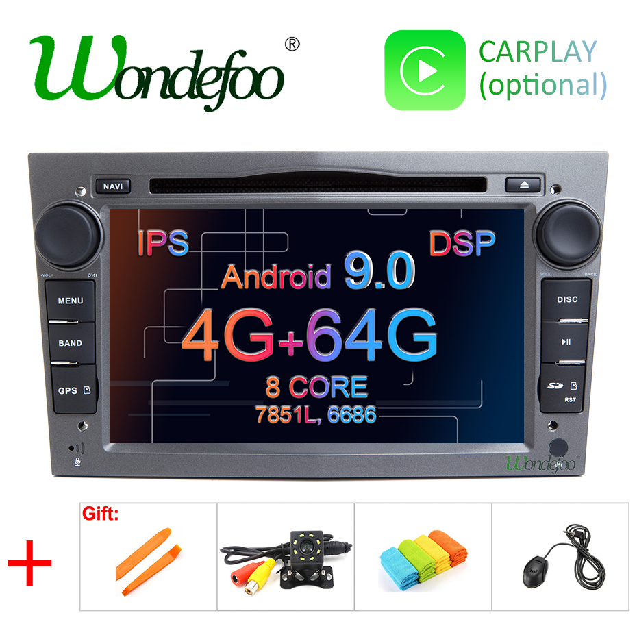 IPS DSP 4GB Android 9.0 2 DIN CAR GPS for opel Vauxhall Astra H G J Vectra Antara Zafira