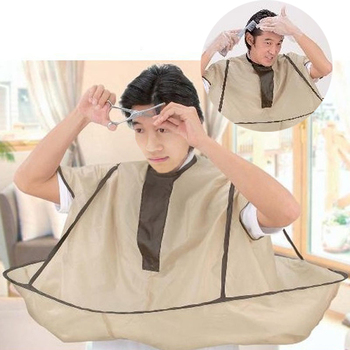 Adult Waterproof DIY Hair Cutting Fold Umbrella Cape Salon Barber Hairdressing Apron Haircut Capes Cover Cloth unisex adult black blue hairdressing cape hair cutting cape gown haircut clothes with play phone view window salon apron