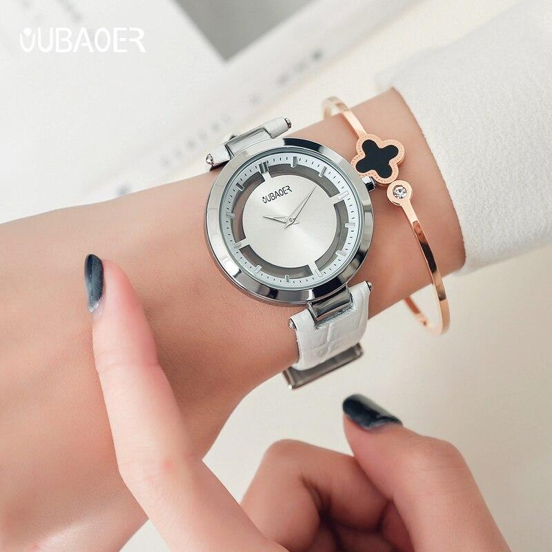 OUBAOER наручные часы для девочек женские модные часы с браслетом Femme 2019 женские часы кварцевые наручные часы Relogio Feminino - 6