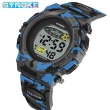 SYNOKE Дети% 27 Часы Мода Спорт Студент Часы Цветной LED Свет Военные Часы Дети Мальчики Девочки Часы Relojes
