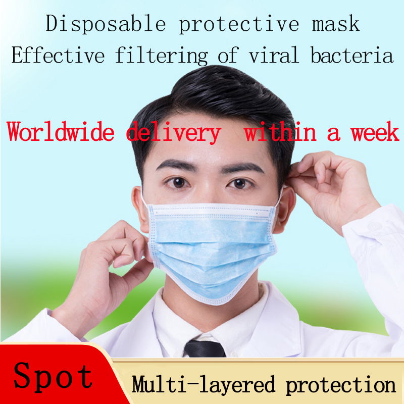 Disposable Mask Disposable Protective Mask With Three Layers Of Protection Unisex Men Or Women