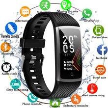 """Relógio inteligente com tela sensível ao toque, bracelete fitness com medição de pressão arterial, condição física, 2020 """", unissex."""