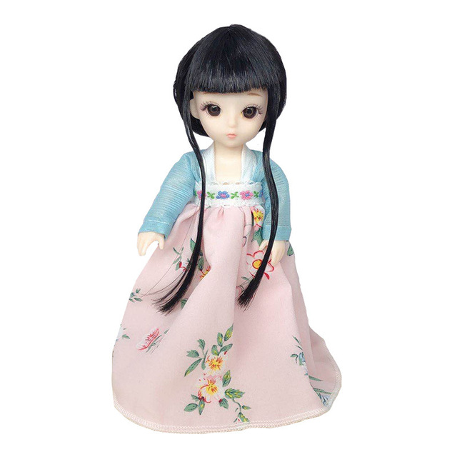 13 Movable Joints BJD 16 Cm Baby Doll 1/12 Fashion Chinese Style Costume Dress Up Doll To Give Shoes DIY Girl Toy The Best Gift