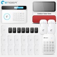 Etiger s4 sem fio gsm/pstn sistema de alarme segurança do assaltante em casa pir detector movimento ao ar livre com teclado sirene