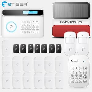 Image 1 - Etiger s4 sem fio gsm/pstn sistema de alarme segurança do assaltante em casa pir detector movimento ao ar livre com teclado sirene