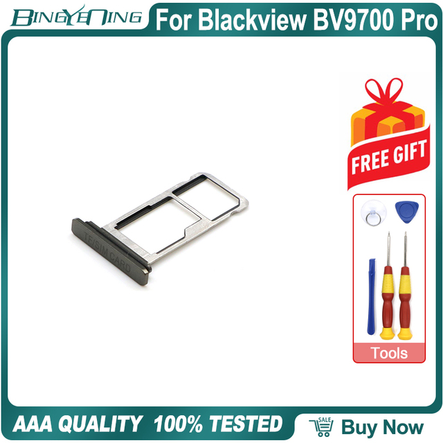 100% New Original TF/SIM Card Tray Holder Slot For Blackview BV9700 Pro Smartphone Repair Replacement Accessories Parts