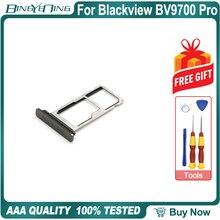 100% nouvelle fente originale de porte plateau de carte de TF/SIM pour des pièces daccessoires de rechange de réparation de Smartphone de Blackview BV9700 Pro