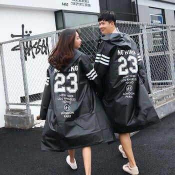 Adult Hiking Rain Poncho for Climbing Couples Trench Fashion Couple Rainwear EVA Men Raincoats Transparent Women Rain Coat