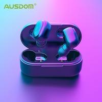 AUSDOM TW01 TWS 무선 블루투스 이어폰 20H 재생 시간 무선 헤드폰 CVC8.0 듀얼 마이크가있는 소음 차단 스포츠 이어 버드|블루투스 이어폰 & 헤드폰|   -