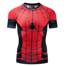 Spiderman Hero Expeditie Oorlog 3D Gedrukt Compressie Shirt Korte Mouw Strak T-shirt Marvel Avengers Cosplay Kostuum Mannen T-shirt(China)