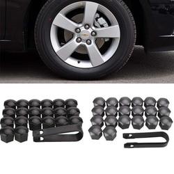 20 sztuk Auto Car Dust Wheel przykręcana pokrywa opona opona ochronna nakrętka śruby Cap 17mm