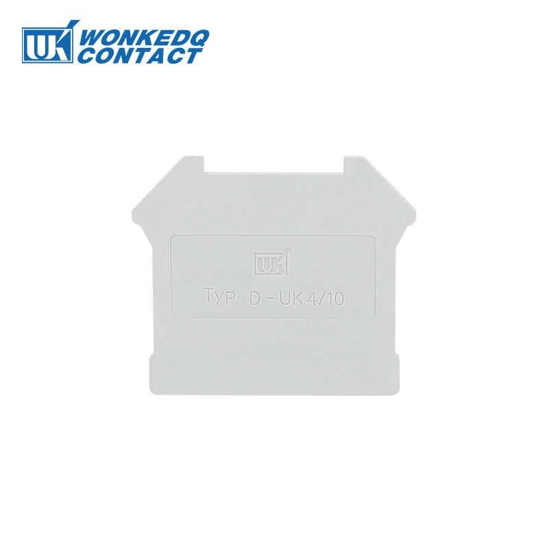 10 pcs D-UK-4-10 Per Il REGNO UNITO 3N UK5N UK6N UK10N UIK16 UK25Terminal Accessori Blocco End Piastra di Copertura Morsettiere Din Rail