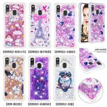 Glitter Bling Phone Cases For Samsung Galaxy A40 Note 10 Pro Note 10 Plus Note 10 A20e A10e Liquid Quicksand Soft TPU Back Cover