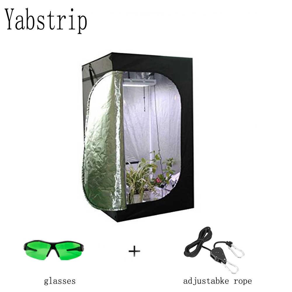Yabstrip impianto al coperto in crescita tende fiore ha condotto la luce a spettro completo per la serra phyto Tende lampada In Crescita scatola kit fitolampy