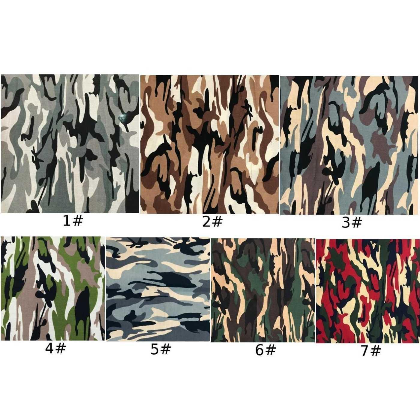 Diy tecido de algodão 1 m * 1.5 m camuflagem impresso camo 100% algodão camisa calças costura estofando suprimentos 132*77 densidade