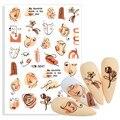 3D самоклеющиеся наклейки для ногтей абстрактные наклейки для ногтей с цветами для лица s слайдер для дизайна ногтей с наклейками на заднюю п...