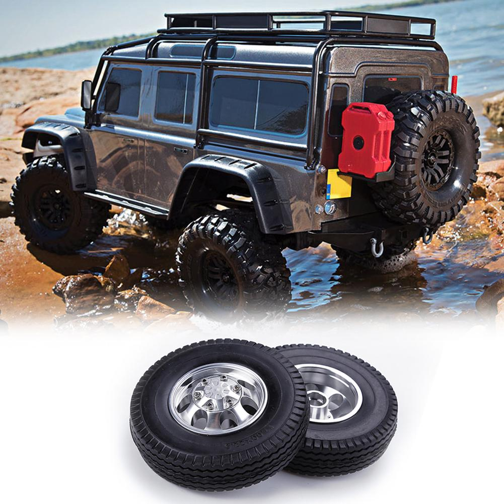 2pcs <font><b>RC</b></font> Car Toys Front Wheel <font><b>Truck</b></font> Tire Trailer Component Accessories for <font><b>1/14</b></font> <font><b>Tamiya</b></font> Climbing Vehicle Remote Control Toys image