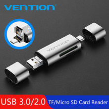 Vention Micro SD Card Reader Adapter Type C Micro USB SD Memory Card Adapter for MacBook Laptop USB 3.0 SD/TF OTG Card Reader(China)