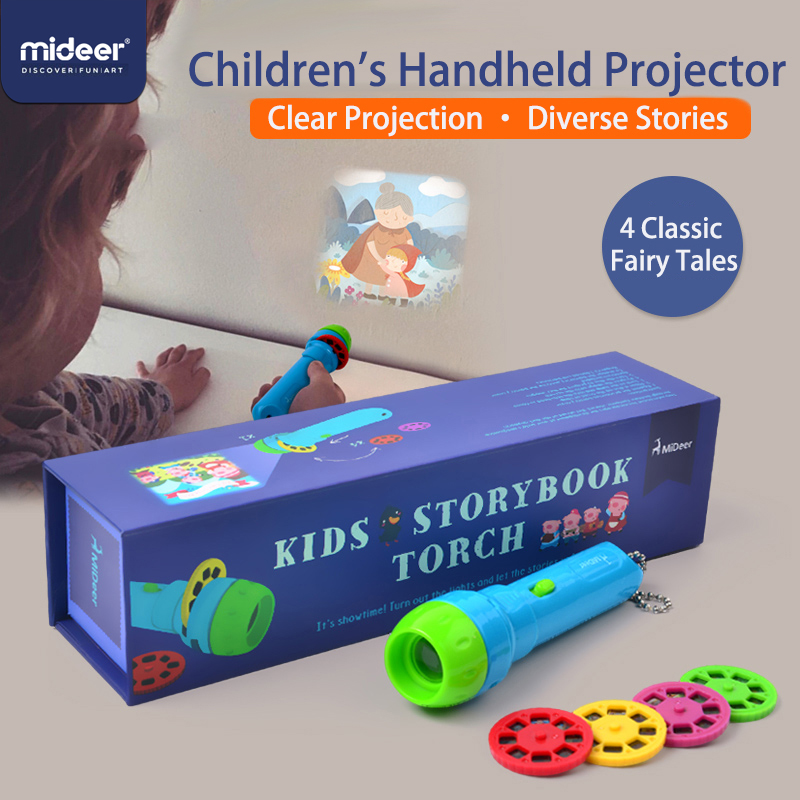 Mideer Mini Projector Torch Educational Light up Toys Children Kids Develop Play Sleeping Stories Perform Set Child Gift in Light Up Toys from Toys Hobbies
