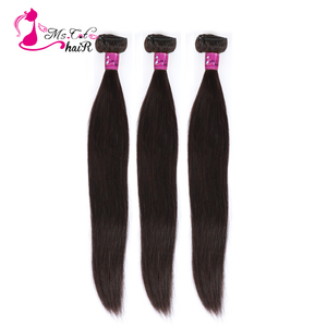 "Image 1 - Ms Cat Hair 3 Bundles Brazilian Straight Hair Weave Bundles Double Weft 100% Human Hair 8"" 28"" Remy Hair Extensions"