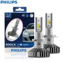 فيليبس X treme Ultinon LED H7 12 فولت 12985BWX2 6000K مشرق سيارة مصباح ليد للسيارات HL شعاع + 200% أكثر مشرق أنيق (التوأم حزمة)