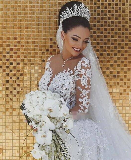 Sparkly Lace Wedding Dress Mermaid Illusion 2
