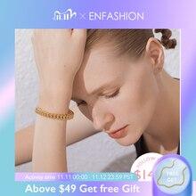 ENFASHION פאנק קישור שרשרת צמידי חפתים נשים אביזרי זהב צבע צמיד צמיד תכשיטים מתנות B192018