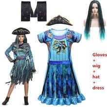 Trajes de halloween para crianças fantasia festa menina vestidos mal descendentes 3 uma ursula cosplay fantasia trajes crianças nightdress